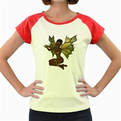 Faerie Nymph Fairy With Outreaching Hands Women s Cap Sleeve T Shirt (colored)