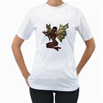 Faerie Nymph Fairy with outreaching hands Womens  T-shirt (White)