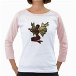 Faerie Nymph Fairy with outreaching hands Women s Long Cap Sleeve T-Shirt (White)
