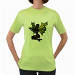 Faerie Nymph Fairy with outreaching hands Womens  T-shirt (Green)