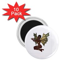 Faerie Nymph Fairy With Outreaching Hands 1 75  Button Magnet (10 Pack) by goldenjackal