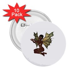 Faerie Nymph Fairy With Outreaching Hands 2 25  Button (10 Pack) by goldenjackal