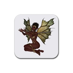 Faerie Nymph Fairy With Outreaching Hands Drink Coaster (square) by goldenjackal