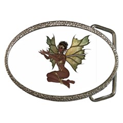 Faerie Nymph Fairy With Outreaching Hands Belt Buckle (oval) by goldenjackal