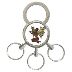 Faerie Nymph Fairy With Outreaching Hands 3 Ring Key Chain by goldenjackal