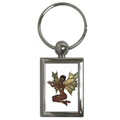 Faerie Nymph Fairy With Outreaching Hands Key Chain (rectangle) by goldenjackal
