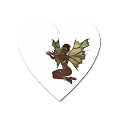 Faerie Nymph Fairy With Outreaching Hands Magnet (heart) by goldenjackal