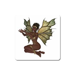 Faerie Nymph Fairy With Outreaching Hands Magnet (square) by goldenjackal