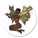 Faerie Nymph Fairy with outreaching hands Magnet 5  (Round)