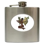 Faerie Nymph Fairy with outreaching hands Hip Flask