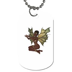 Faerie Nymph Fairy With Outreaching Hands Dog Tag (two Sided)  by goldenjackal
