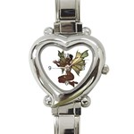 Faerie Nymph Fairy with outreaching hands Heart Italian Charm Watch