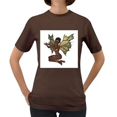 Faerie Nymph Fairy With Outreaching Hands Womens' T Shirt (colored) by goldenjackal