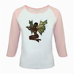 Faerie Nymph Fairy With Outreaching Hands Kid s Long Cap Sleeve T Shirt by goldenjackal