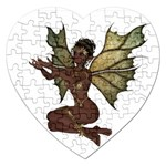 Faerie Nymph Fairy with outreaching hands Jigsaw Puzzle (Heart)