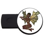 Faerie Nymph Fairy with outreaching hands 4GB USB Flash Drive (Round) Front