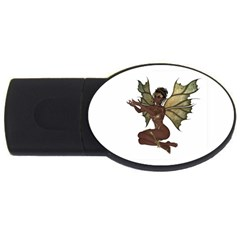 Faerie Nymph Fairy With Outreaching Hands 4gb Usb Flash Drive (oval) by goldenjackal