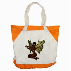 Faerie Nymph Fairy With Outreaching Hands Accent Tote Bag by goldenjackal