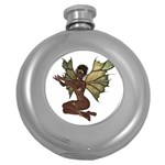 Faerie Nymph Fairy with outreaching hands Hip Flask (Round)