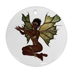 Faerie Nymph Fairy with outreaching hands Round Ornament (Two Sides)