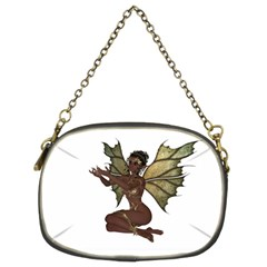 Faerie Nymph Fairy With Outreaching Hands Chain Purse (two Sided)