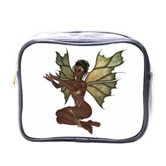 Faerie Nymph Fairy With Outreaching Hands Mini Travel Toiletry Bag (one Side) by goldenjackal
