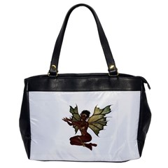Faerie Nymph Fairy With Outreaching Hands Oversize Office Handbag (one Side) by goldenjackal