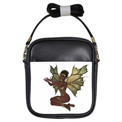 Faerie Nymph Fairy With Outreaching Hands Girl s Sling Bag by goldenjackal
