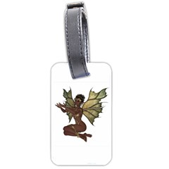 Faerie Nymph Fairy With Outreaching Hands Luggage Tag (two Sides) by goldenjackal