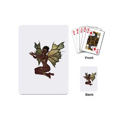 Faerie Nymph Fairy With Outreaching Hands Playing Cards (mini) by goldenjackal