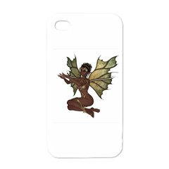 Faerie Nymph Fairy With Outreaching Hands Apple Iphone 4 Case (white) by goldenjackal