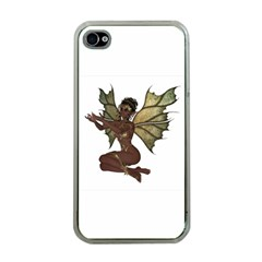 Faerie Nymph Fairy With Outreaching Hands Apple Iphone 4 Case (clear) by goldenjackal
