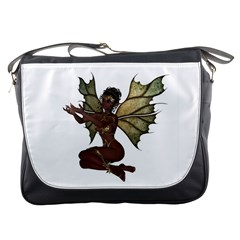 Faerie Nymph Fairy With Outreaching Hands Messenger Bag by goldenjackal