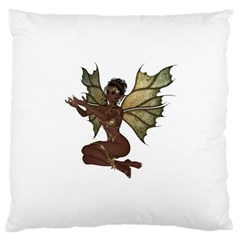 Faerie Nymph Fairy With Outreaching Hands Large Cushion Case (single Sided)  by goldenjackal