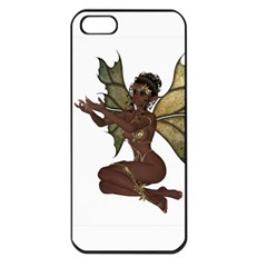 Faerie Nymph Fairy With Outreaching Hands Apple Iphone 5 Seamless Case (black) by goldenjackal
