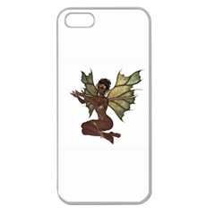 Faerie Nymph Fairy With Outreaching Hands Apple Seamless Iphone 5 Case (clear) by goldenjackal