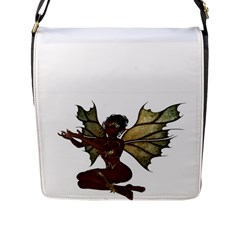 Faerie Nymph Fairy Flap Closure Messenger Bag (large) by goldenjackal