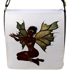 Faerie Nymph Fairy With Outreaching Hands Flap Closure Messenger Bag (small) by goldenjackal