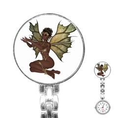 Faerie Nymph Fairy With Outreaching Hands Stainless Steel Nurses Watch by goldenjackal