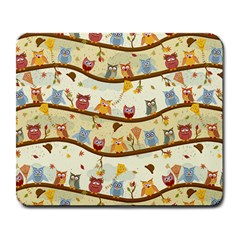 Autumn Owls Large Mouse Pad (rectangle) by Ancello