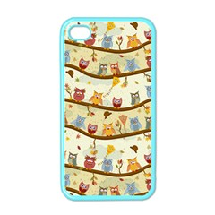 Autumn Owls Apple Iphone 4 Case (color) by Ancello