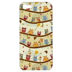 Autumn Owls Apple Iphone 5 Hardshell Case by Ancello