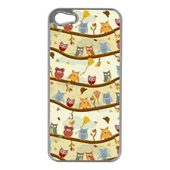Autumn Owls Apple Iphone 5 Case (silver) by Ancello