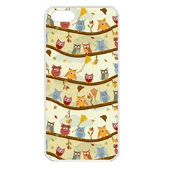 Autumn Owls Apple Iphone 5 Seamless Case (white) by Ancello