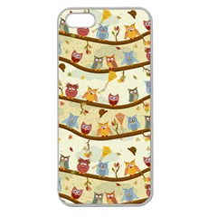 Autumn Owls Apple Seamless Iphone 5 Case (clear) by Ancello