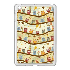 Autumn Owls Apple Ipad Mini Case (white) by Ancello