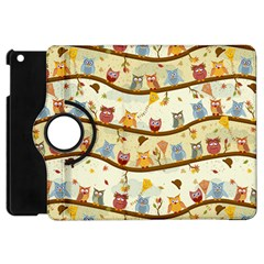 Autumn Owls Apple Ipad Mini Flip 360 Case by Ancello