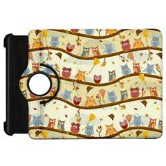 Autumn Owls Kindle Fire HD 7  (1st Gen) Flip 360 Case by Ancello