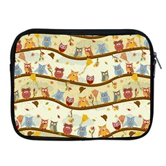 Autumn Owls Apple Ipad Zippered Sleeve by Ancello