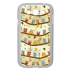 Autumn Owls Samsung Galaxy Grand DUOS I9082 Case (White) by Ancello